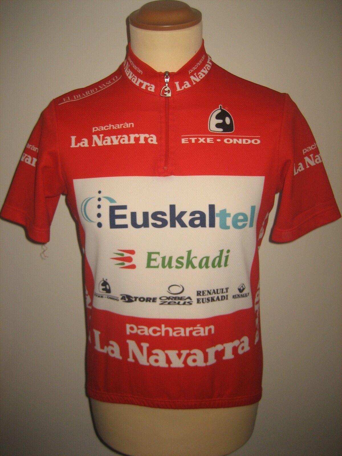 Euskaltel Euskadi RIDER WORN Spain shirt cycling maillot camiseta jersey Größe M