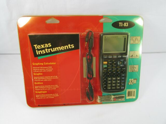 Texas Instruments TI-83 w/ Graphing Calculator User Manual New Old Stock 1996