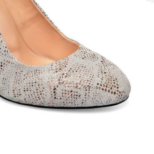 Details about  /Women/'s Block High Heels Court Dress OL Slip On Fashion Round Toe Shoes 34//45 L