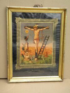 Beliebte Marke Heiligenbild 53x41cm Leiden Christi Im Waschgold Rahmen C.1870 Berliner Leiste Antiquitäten & Kunst