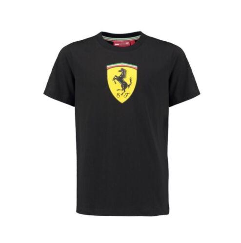 Scuderia Ferrari Kid/'s Classic T-Shirt Black