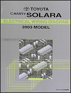 details about brand new 2003 toyota camry solara wiring diagram manual oem electrical shop 2003 toyota tacoma wiring diagram 2003 toyota solara wiring diagram #5
