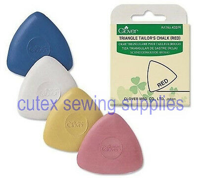 Clover Triangle Tailor's Chalk White / Yellow / Blue / Red #432