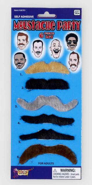 Forum Novelties Black Freak Show Scoundrel Moustache /& Beard Set