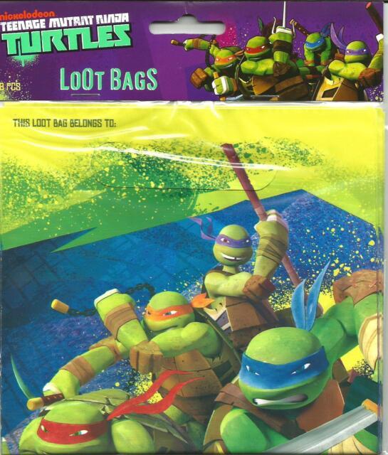 Teenage Mutant Ninja Turtles Birthday Treat/ Loot Bags Party Favors Supplies