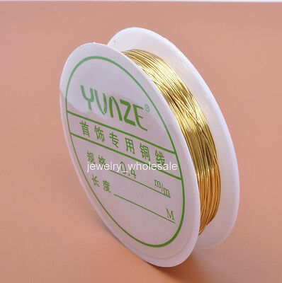 Wholesale 0.3MM 0.4MM 0.5MM 0.6MM  Jewelry Craft Copper Wire Charm Cord Finding