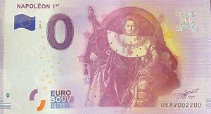 BILLET-0-EURO-NAPOLEON-1ER-LES-INVALIDES-PARIS-FRANCE-NUMERO-2200