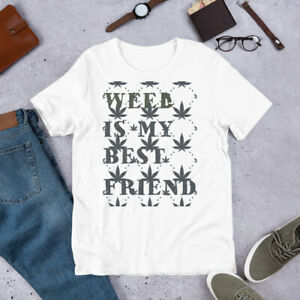 Weed-Is-My-Best-Friend-Graphic-Tee-Design