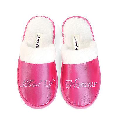 Lujo Personalizado Rosa de Cristal Zapatillas Gallina Fiesta Luna de Miel Spa Regalos Novia