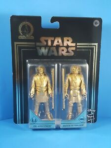 OBI-WAN-KENOBI-ANAKIN-SKYWALKER-Star-Wars-Commemorative-Edition-GOLD-Figure-Set