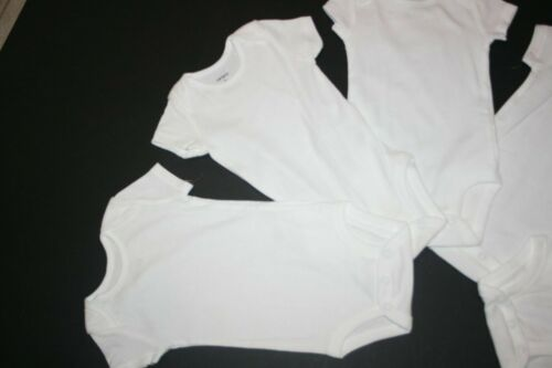 New Carter/'s 5 Pack Solid White Style Bodysuits NWT Size prem NB 3 6 9 12 18 24m