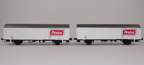 Rivarossi RT700032 Güterwagen Set 2 carri chiusi FINDUS Ibblps FS neu OVP