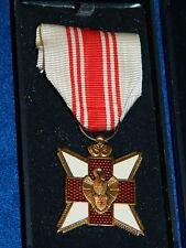 insigne MEDAILLE de donneur de sang BELGIQUE civils CROIX ROUGE red cross medal