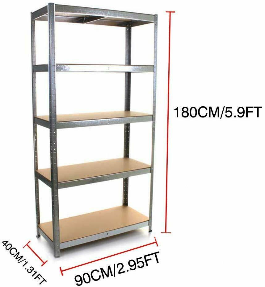 5 Tier Storage Rack Heavy Duty Display Shelving 1800x900x400 Shelf Display Rack