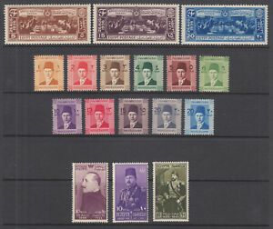 Egypt-Sc-203-253-MNH-1937-50-issues-5-complete-sets-fresh-bright