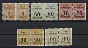 Bavaria-Bayer-Germany-WWII-Railroad-Train-Bayern-Revenue-local-pairs-MNH