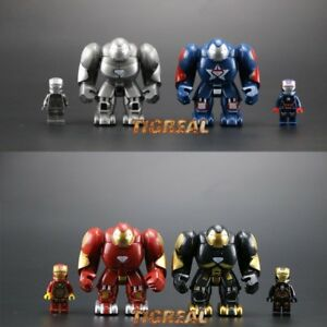 4-Style-Iron-Man-Minifigure-Marvel-Avengers-Super-Heroes-Infinity-War-for-LEGO