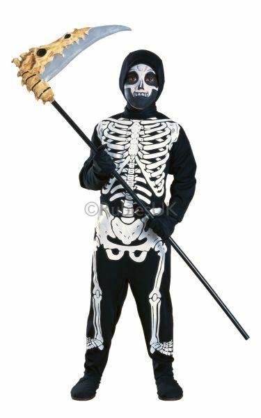 ! Oferta! Esqueleto Huesos Chicos Niños Disfraces De Fiesta Vestido De Fantasía Traje De Disfraz De Terror
