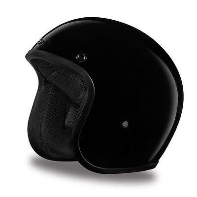 Daytona Cruiser 3/4 Open Face Helmet Hi-Gloss Black - ALL SIZES SHIP FREE!