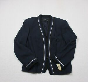 NEW-Linda-Allard-Ellen-Tracy-Blazer-Womens-Size-12-Blue-Jacket-Casual-Ladies
