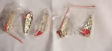 gold lure spoon 7 grams fishing spoons lot  5 fishing spoons 5cm Free S//H NEW