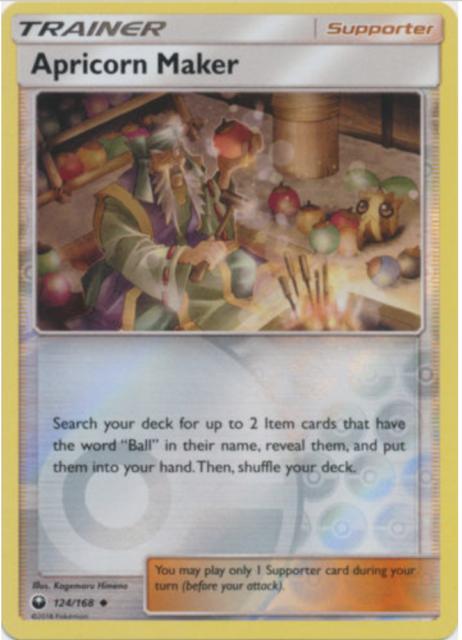 Pokemon -sm7 Celestial Orage - Apricorn Machine - 124/168 - Reverse Holo -NM/ M