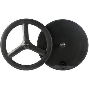 Road-Bike-Disc-Rear-Wheel-Clincher-Front-65mm-3-Spoke-Wheel-Carbon-Wheelset-TT