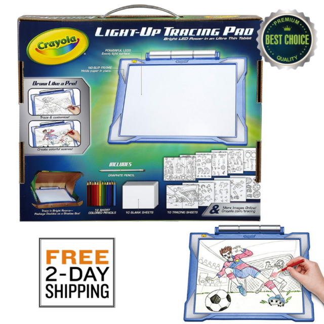 Crayola Light-up Tracing Pad Blue Coloring Board for Kids Gift Toys ...