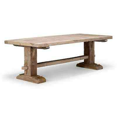 Esstisch 220x95 Teak massiv Holz Möbel rustikal  Esszimmer neu KUMASI