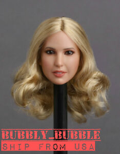 1//6 Female Head Sculpt Curly Hair KIMI KT010C For PHICEN Hot Toys Figure ❶USA❶
