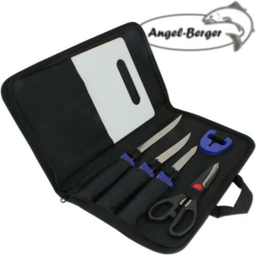 Angel Berger Filetiermesser Set Messer Set  Angelmesser Messerschäfer Anglermess