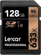 Lexar 128GB 633x Professional UHS-I U1 SDXC Class 10 High-Speed Pro Memory Card