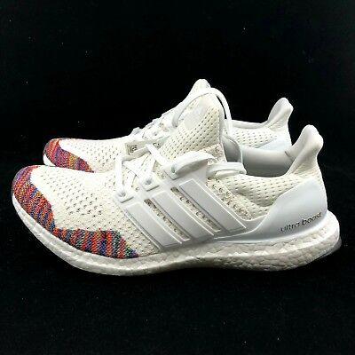 Adidas Ultra Boost 1.0 WHITE RAINBOW TOE MULTICOLOR CLOUD BB7800 *FAST SHIPPING*