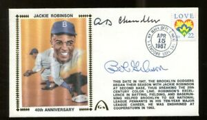 AB-Happy-Chandler-Bob-Gibson-Signed-FDC-First-Day-Cover-Autographed-56244