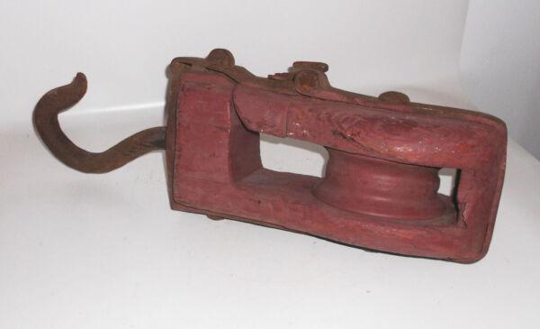 Grand 14 Kg Lourde Poulie Treuil Câble Vintage Loft Industrie Design Saveur Pure Et Douce