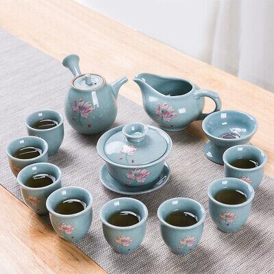 creative tea set Zen style lotus carved porcelain tea pot tea cup tea plate new