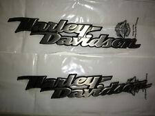 Genuine Harley Softail Fuel Gas Tank Set Emblems Badges Dull Aluminum OEM