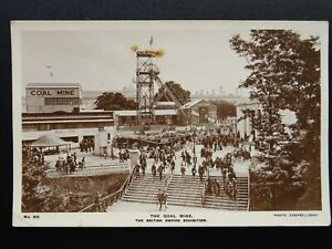 The-British-Empire-Exhibition-THE-COAL-MINE-c1924-RP-Postcard-by-Fleetway-Press