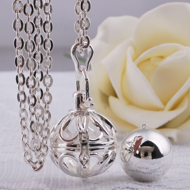 Harmony Ball Silver Plated Anger Musical Mexican Bola Soft Chime Bell Pendant