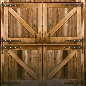 Image Is Loading Rustic Country Barn Doors Coasters Set Of 4