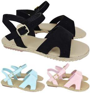 cfebed38b4a44 KIDS GIRLS SUMMER FLAT STARPPY BEACH HOILDAY CHILDREN SANDALS SHOES ...