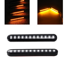 2pcs Led Turn Signal Strip Motorcycle Sequential Flowing 12led Tail Brake Lights