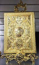 Xlarge Quran & Stand Holder Islamic Muslim Koran GOLD Decorated Storage Box
