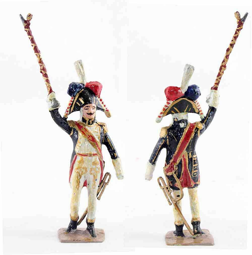 VERTUNNI Figürchen Trommel MAJOR / Antik toy soldier