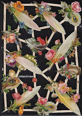 Verantwortlich # Glanzbilder # Ef 7419 Federn Und Blumen Sehr Hübsch Und Irgendwie Besonders HüBsch Und Bunt