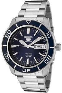 SEIKO-5-Sports-Reloj-Hombre-Automatico-Dia-FECHA-FONDO-DE-CRISTAL-AZUL