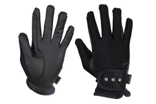 Horka Equestrian Joleen Crystal Stones Glitter Fabricated Closure Glove