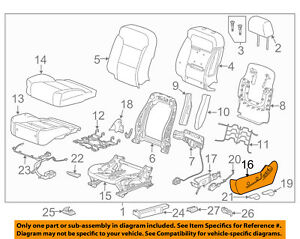 GM OEM Driver Seat-Outer Finish Panel 84233193