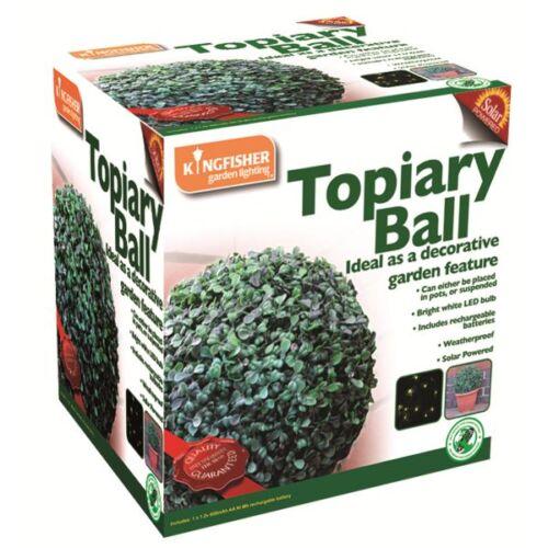 27CM 20 LED TOPIARY BALL LIGHT DUAL FUNCTION SOLAR POWER GARDEN SPHERE POT BUSH
