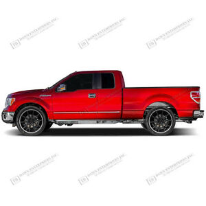 for ford f 150 super cab body side moldings chrome abs molding trim 2015 2017 ebay. Black Bedroom Furniture Sets. Home Design Ideas
